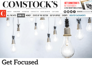 """Featured As Guest Expert for Comstock's Magazine Article: """"Get Focused: The Science Behind Why Multitasking is Ruining Your Ability to Get Things Done"""""""